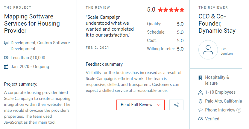Recent review Scale Campaign